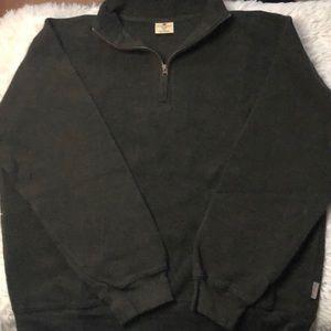Wool rich 1/2 zip pullover textured XL